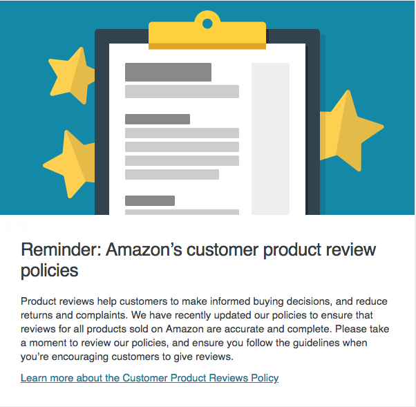 Amazon's customer product review policies