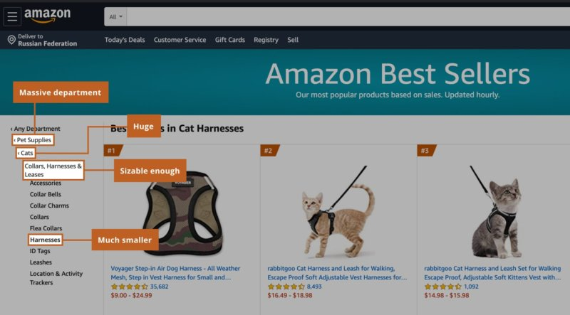 Category matters in Best Seller Badge on Amazon