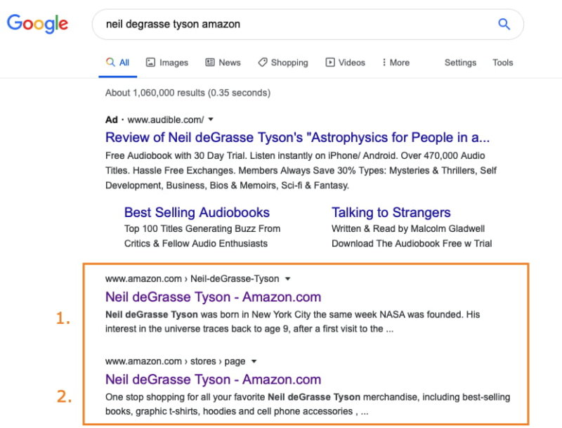 Google Search Results for NDG Amazon Brand Store