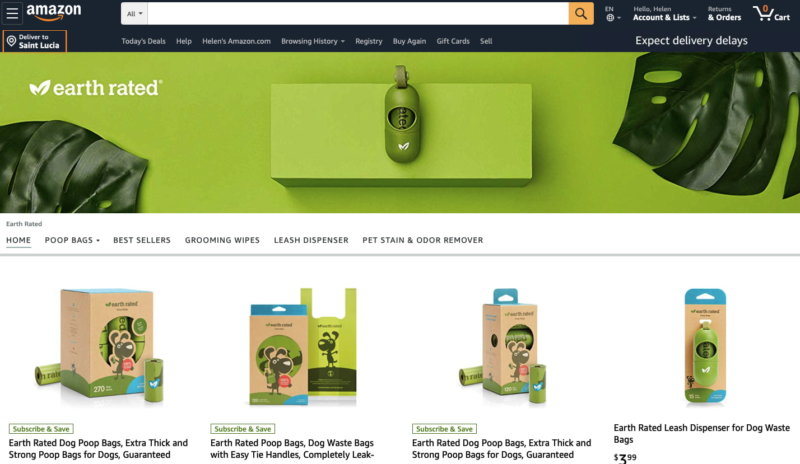 Product Grid Amazon Brand Store Display
