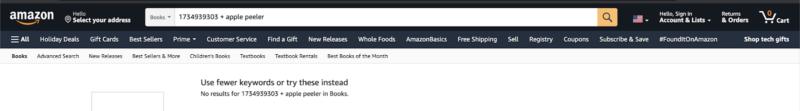 testing if a keyword ranks on Amazon