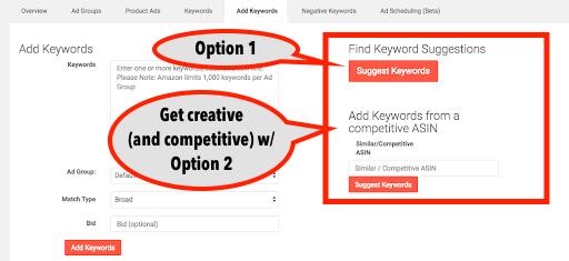 find keyword sugggestions