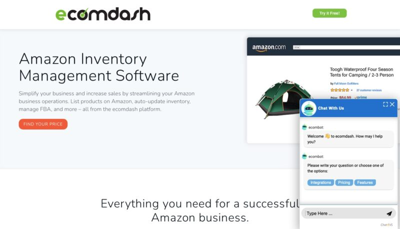 Ecomdash Amazon inventory management software