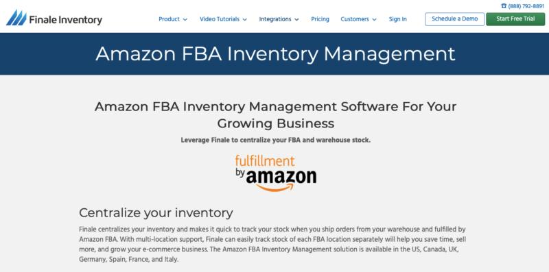 FinaleInventory Amazon inventory management software