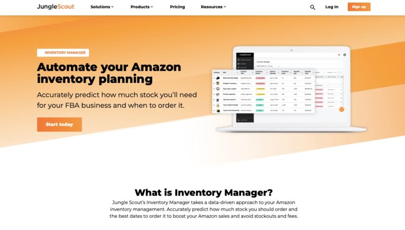 JungleScout inventory management tool