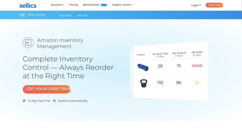 Sellics Amazon inventory management tool