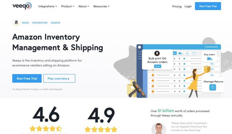 Veeqo Amazon inventory software
