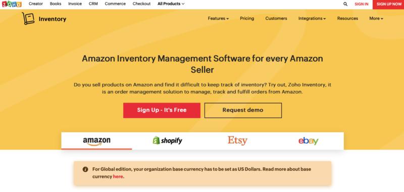 Zoho Amazon inventory management
