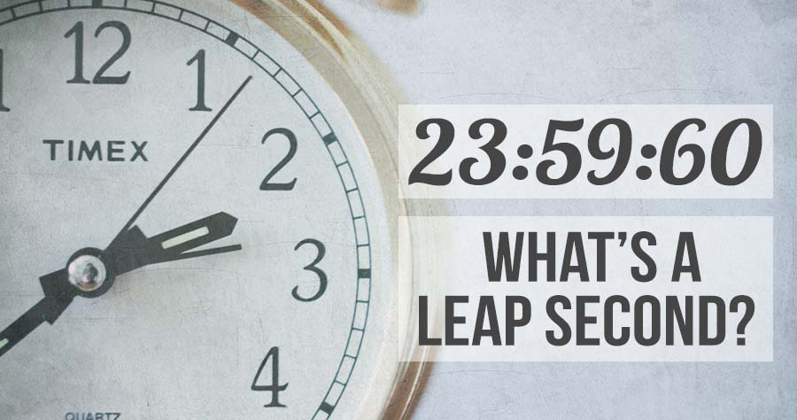23:59:60: What's A Leap Second?