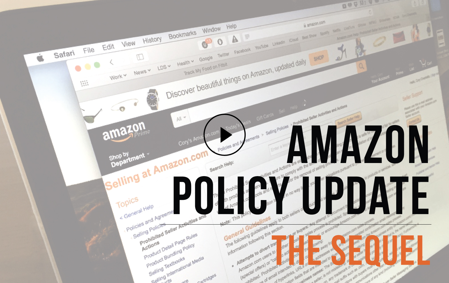 Amazon Policy Update – The Sequel & Webinar