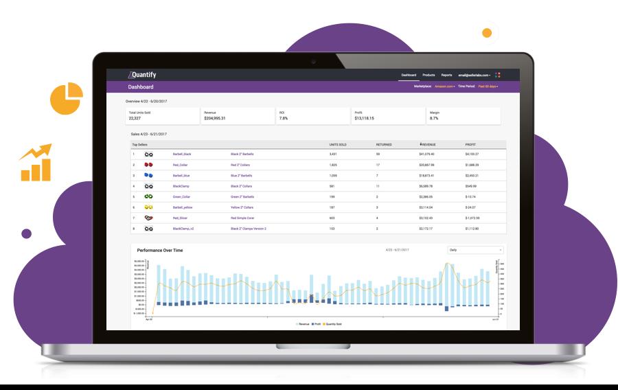 Screenshot of Quantify inventory management dashboard
