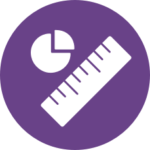 Icon of pie chart and ruler