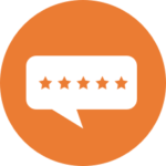 Icon of five-star review