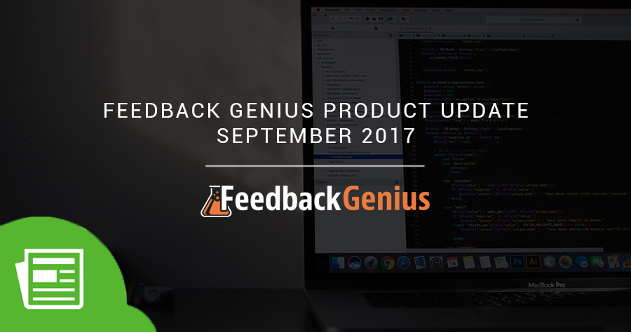 Feedback Genius Product Update: September 2017