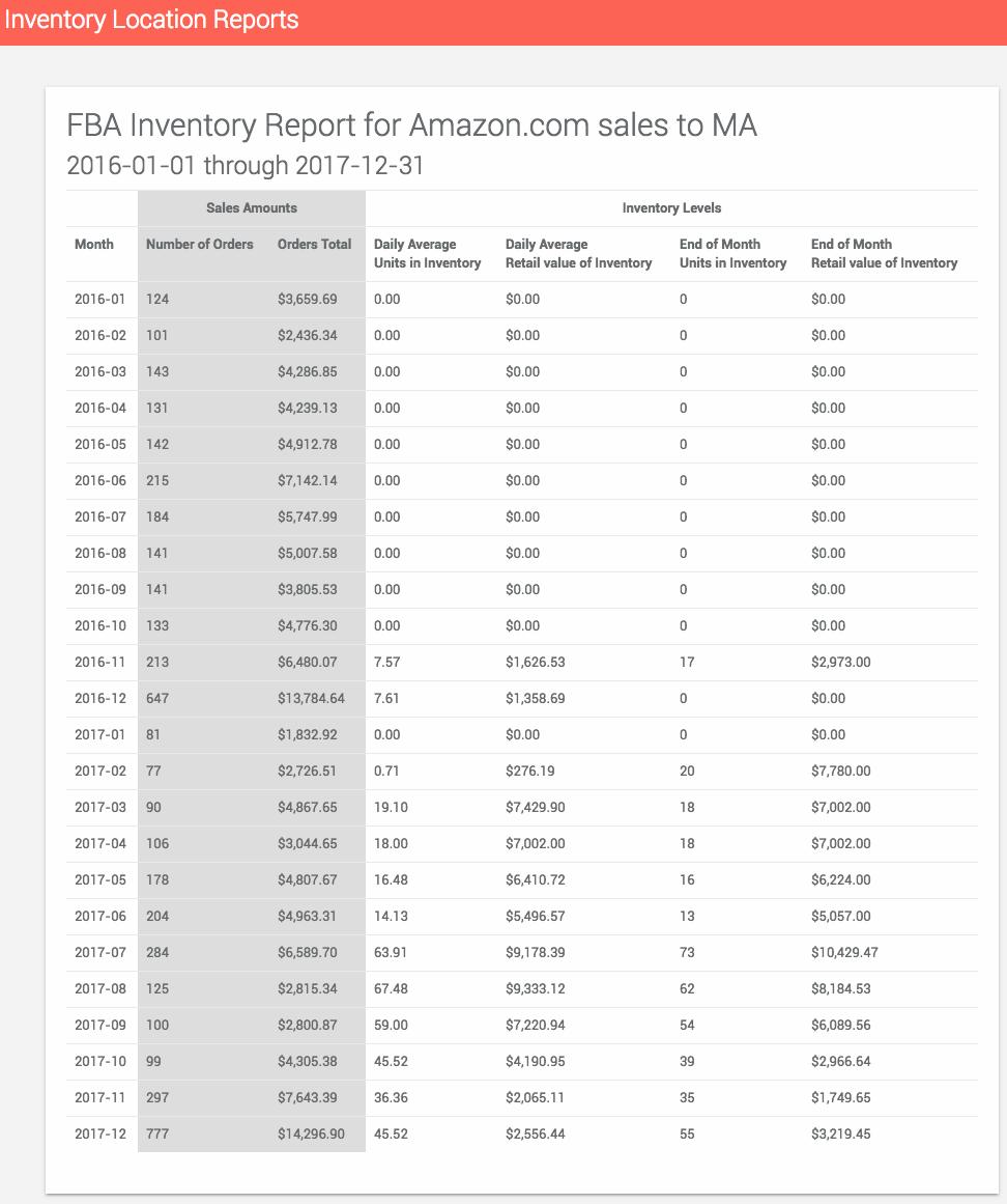 ScreenShot of Saller Labs Inventory Location tool